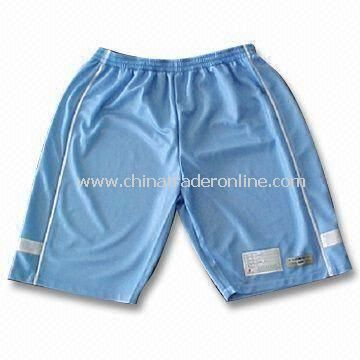 Polyester Tricot Mens Sportswear Shorts with Applique from China