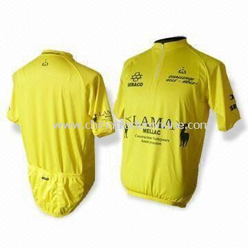S to XXL Cycling Jersey with Short Sleeves and Full Heat-transfer Sublimation Printing
