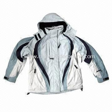 Skiwear, Made of 228T Nylon Taslon Coated PU, Waterproof and Breathable