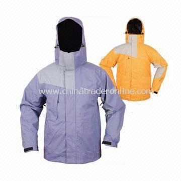 Skiwear/Jacket with Velcro Closure and 190T Polyester Lining
