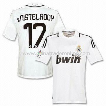 Soccer Jersey with Embroidery for Real Madrid Club, Available in Various Sizes