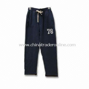Sports Pants, Made of 100% Cotton Terry, Suitable for Men