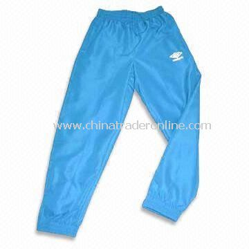 Sports Pants in Blue, Made of 100% Polyester, Suitable for Boy, Various Colors are Available
