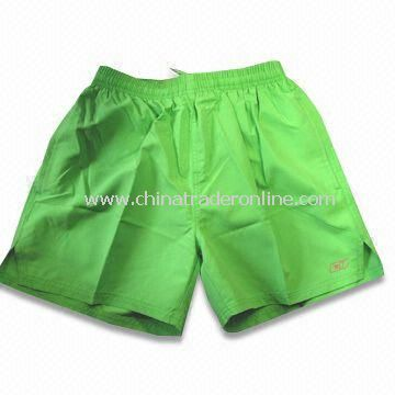 Sports Shorts, Made of 100% Polyester Twill Peach Skin, Available in Various Sizes