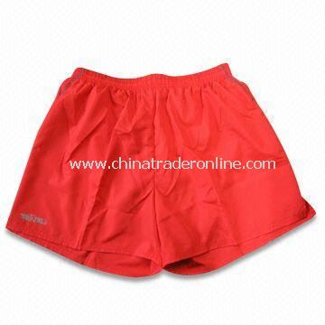 Sports Shorts, Made of 240T Microfiber, Available in Sizes of S, M, L, XL and XXL