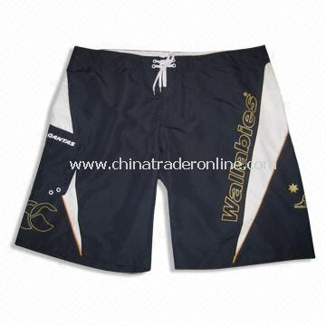 Sports/Wallabies Board Shorts, Made of 100% Polyester Drill, Suitable for Men