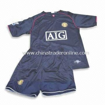 Stlylish Soccer Jersey, Made of 100% Polyester, OEM ORders are Welcome