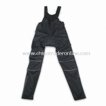 Trager or Cycling Long Pants, Made of 80% Polyamide and 20% Elastane