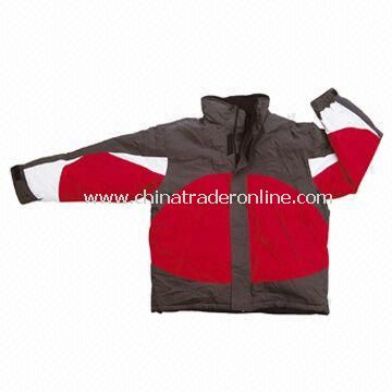 Waterproof Skiwear, Made of 320T Nylon and Taslon with PU Coating