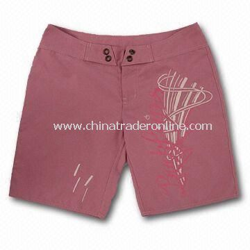 Womens Beach Shorts, Made of 100% Polyester, OEM Orders are Welcome