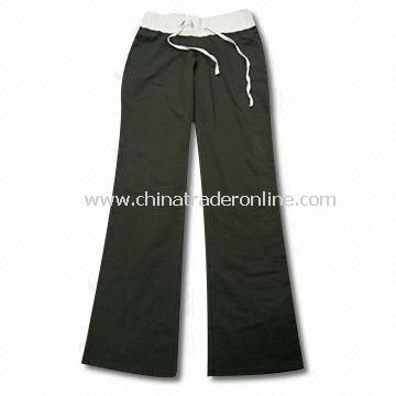 Womens Pants, Made of 95% Cotton and 5% Spandex
