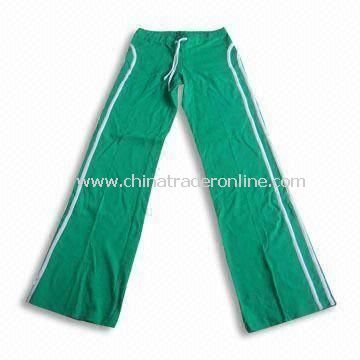 Womens Sports Pant, Made of Cotton Material, Available in Customized Fabric Requests Welcomed