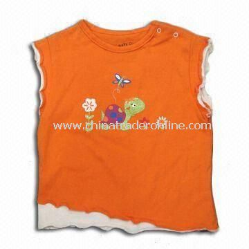 100% Cotton Childrens T-shirt, Available in Various Colors, Customized Requirements are Accepted