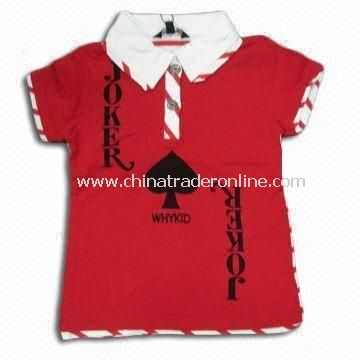 100% Cotton Childrens T-shirt, Available in Various Colors