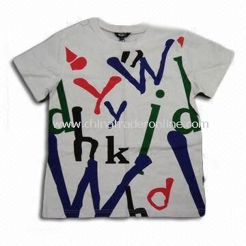 100% Cotton Childrens T-shirt, Customized Requirements are Accepted