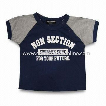 Childrens Cotton T-shirt with Printing, Available in Various Colors