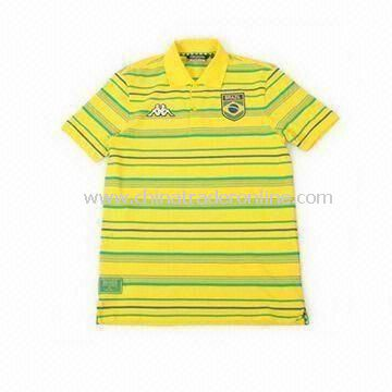 Childrens Polo T-shirt with Stripes, Made of 100% Cotton, Available in Various Sizes