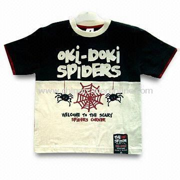 Childrens Short Sleeve T-shirt, Available in Sizes from 92 to 122cm, Embroidery and Print