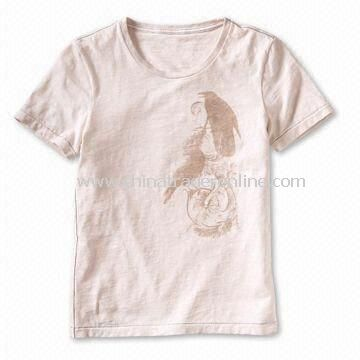Childrens T-shirt, Customized Fabrics, Designs, and Logos are Welcome, Made of 100% Cotton