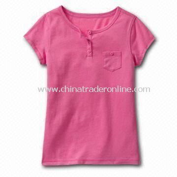 Childrens T-shirt, Made of 100% Cotton, Customized Designs, Logos, and Fabrics are Accepted