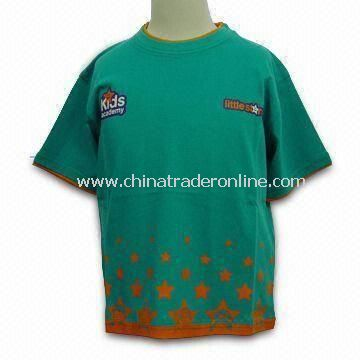 Childrens T-shirt, Made of 100% Cotton, Customized Logo Welcomed