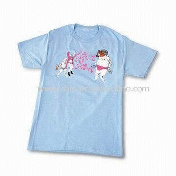 Childrens T-shirt, Made of 100% Cotton, Customized Orders are Welcome