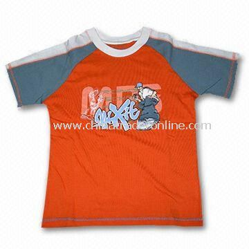 Childrens T-Shirt, Made of 180gsm Combed 100% Cotton