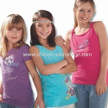 Childrens T-shirt, Made of Pure Cotton, 3-piece Packing