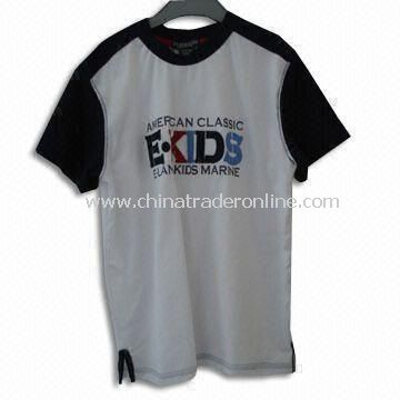 Childrens T-Shirt, Various Colors and Sizes are Available, Made of Polyester and Cotton