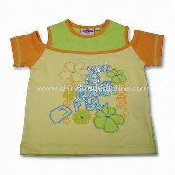 Childrens T-shirt in 2 to 10T Size, Customized Logos are Welcome