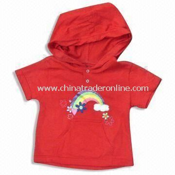 Childrens T-shirt with Hood, Customized Requirements are Accepted