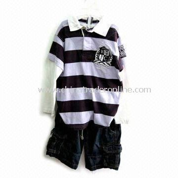 Childrens T-shirt with Long Sleeves, Customized Designs and Samples are Accepted