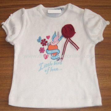 Childrens T-shirt with Printing, Customized Designs are Welcome