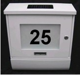 Solar postbox