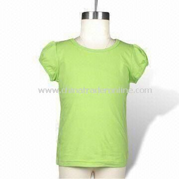Toddler Girls Basic T-shirt, Made of 160g Cotton Jersey (32S), Available in Various Colors