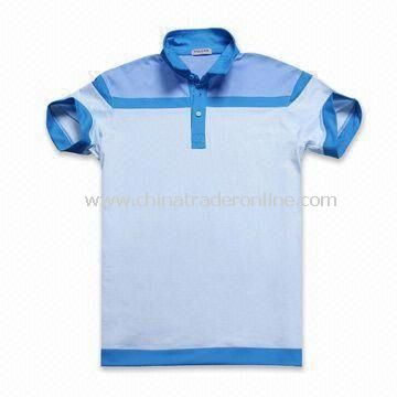 Fashionable Blue Mens Golf T-shirt and Polo Shirt, Available in Blue, White and Black Colors
