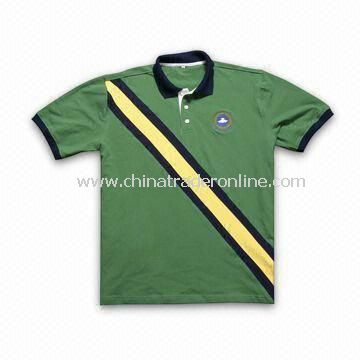 Golf Polo T-shirt, Fashionable Design and 100% Combed Cotton, New Arrival Items for Spring Season