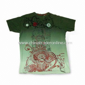 Mens Short Sleeve T-shirt, Made of 100% Cotton, Weighs 180gsm