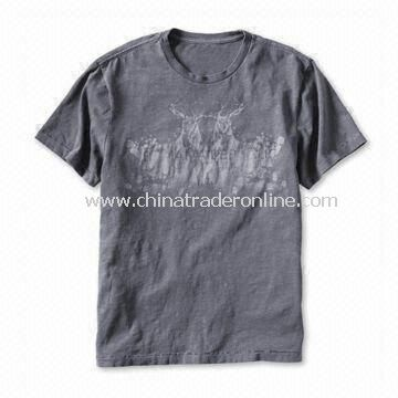 Mens Short Sleeves T-shirt with Logo Printing on the Front or Chest