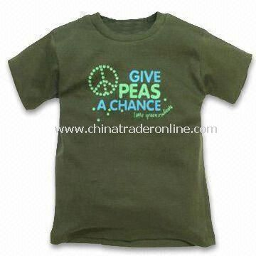 Baby T-shirt in Dark Green Color, with Printed Wordings Design, Available in Various Colors