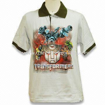 Fashionable Printed T-shirt, Made of 100%, Suitable for Boys