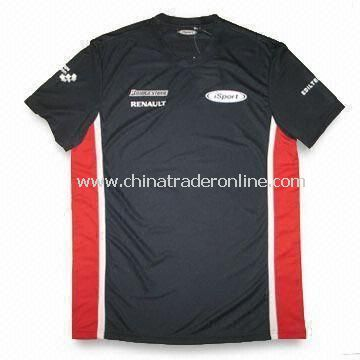Racing Allover Printed Fitted T-shirt with Cap Sleeves and Branded Neck Label