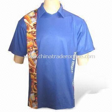 Sublimation Printed Mens T-shirt, Customized Sizes are Accepted, Made of 100% Polyester