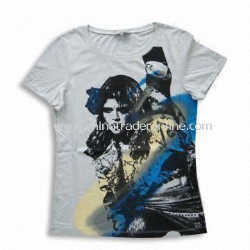 T-shirt, Can Put Various Prints on Chest, Fashionable Design, Made of Cotton Pique