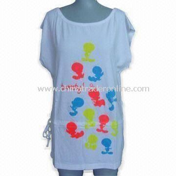 T-shirt for Women and Girls, Available in Various Designs and Prints, Made of 100% Cotton