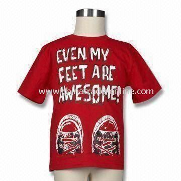 Toddler Boys Printed T-shirt, Made of 160g Cotton Jersey, Available in Various Colors