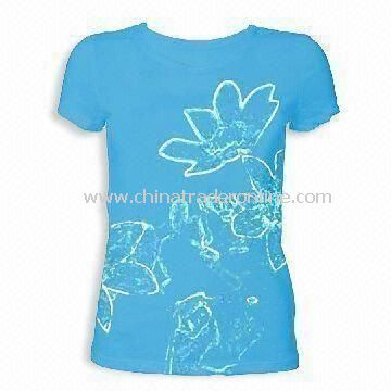 Womens T-Shirt with Printing Pattern and Short Sleeve Style
