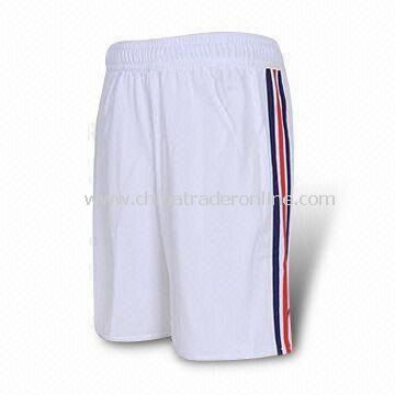 Athletic Shorts, Made of 100% Polyester, Different Colors and Styles are Available