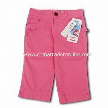 Childrens Sports Shorts, Made of 100% Cotton, Available in Pink