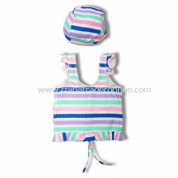 Childrens Swimwear, Made of 80% Polyester and 20% Spandex, OEM Orders are Welcome from China